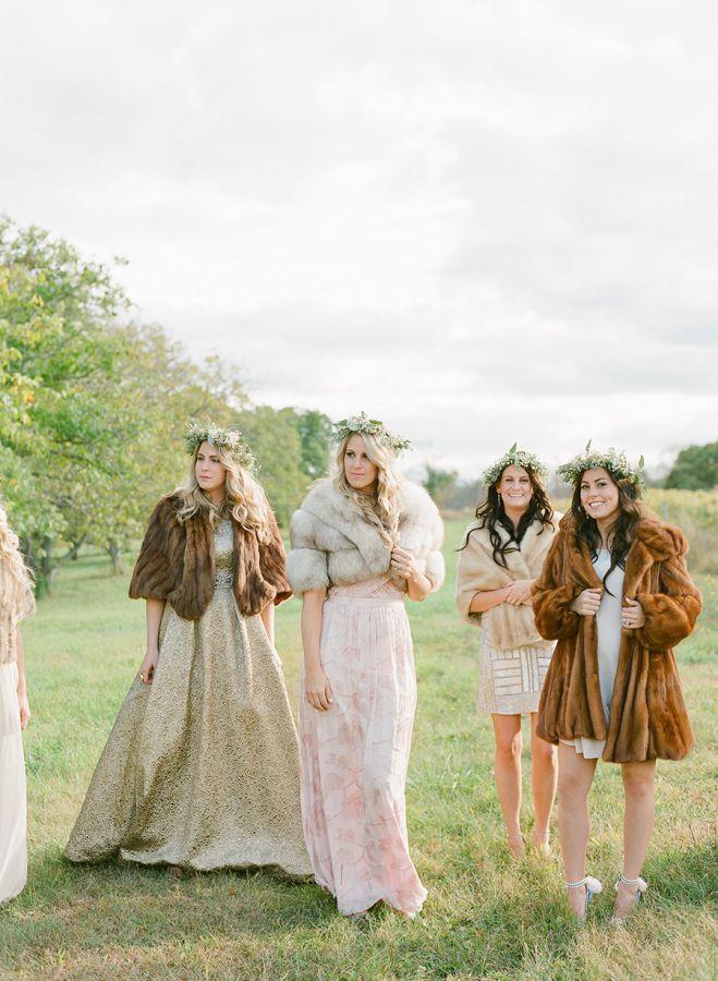 groupe femmes mariage en automne