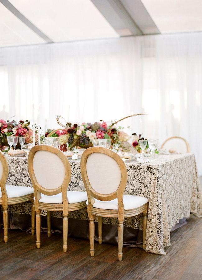 table mariage en automne