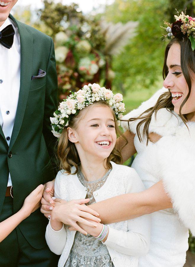 jeune fille mariage en automne
