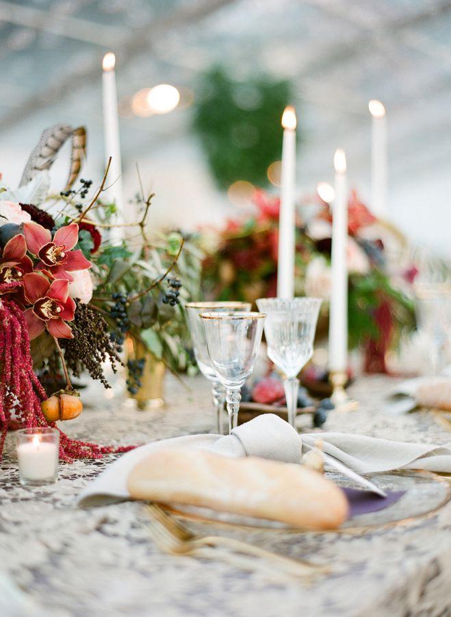 decor table mariage en automne