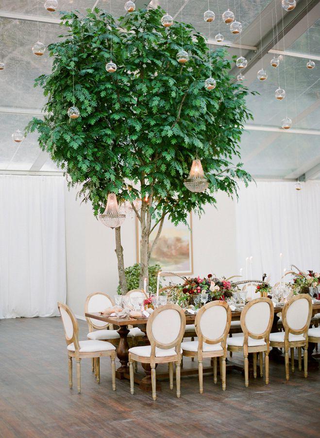 grande table mariage en automne