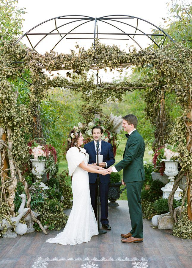 autel mariage en automne