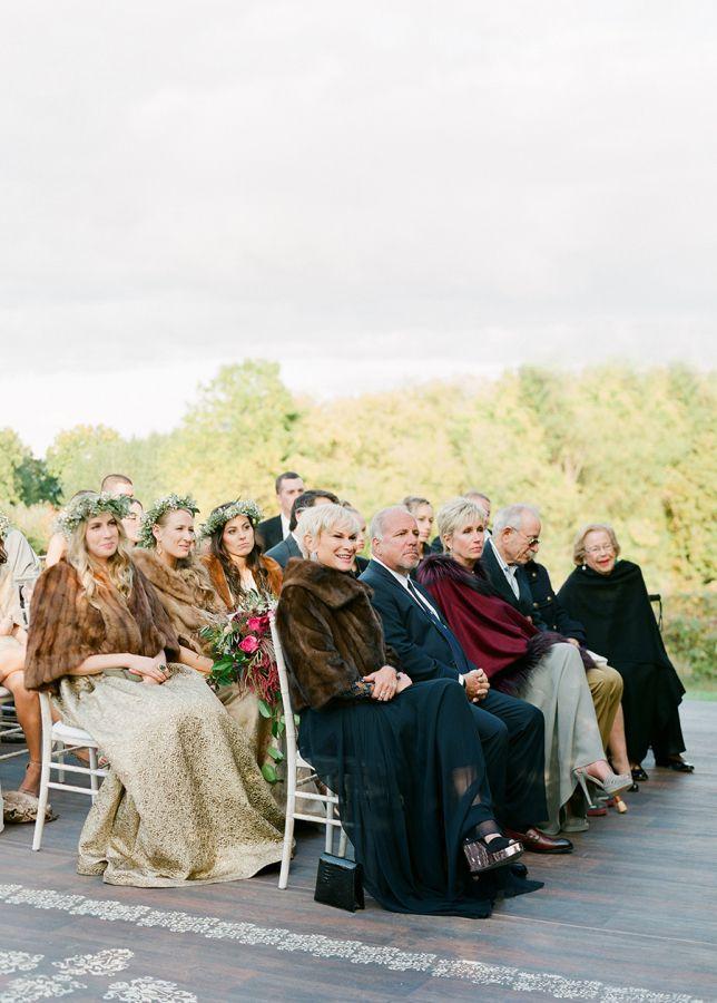 famille mariage en automne