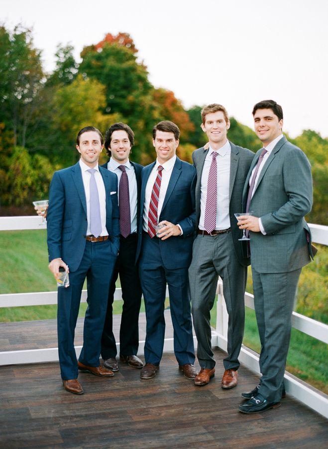 marie et garçons d honneur mariage en automne