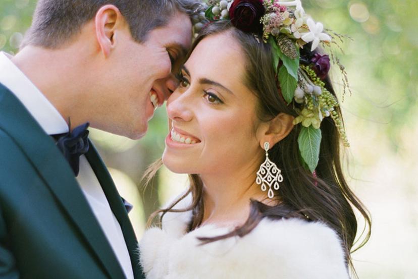 portrait maries mariage en automne