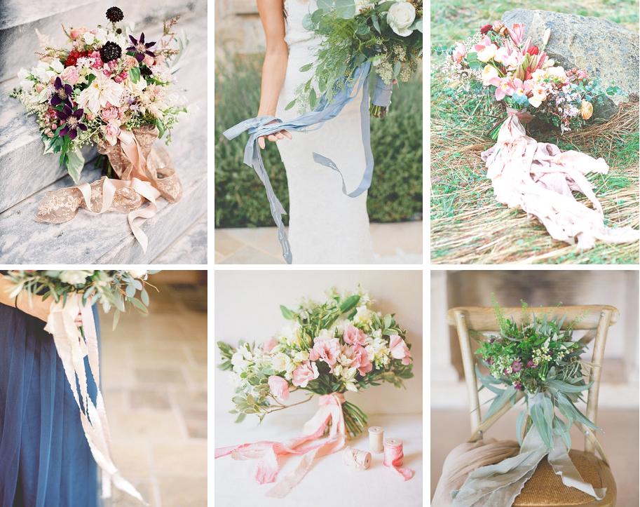 rubans bouquet
