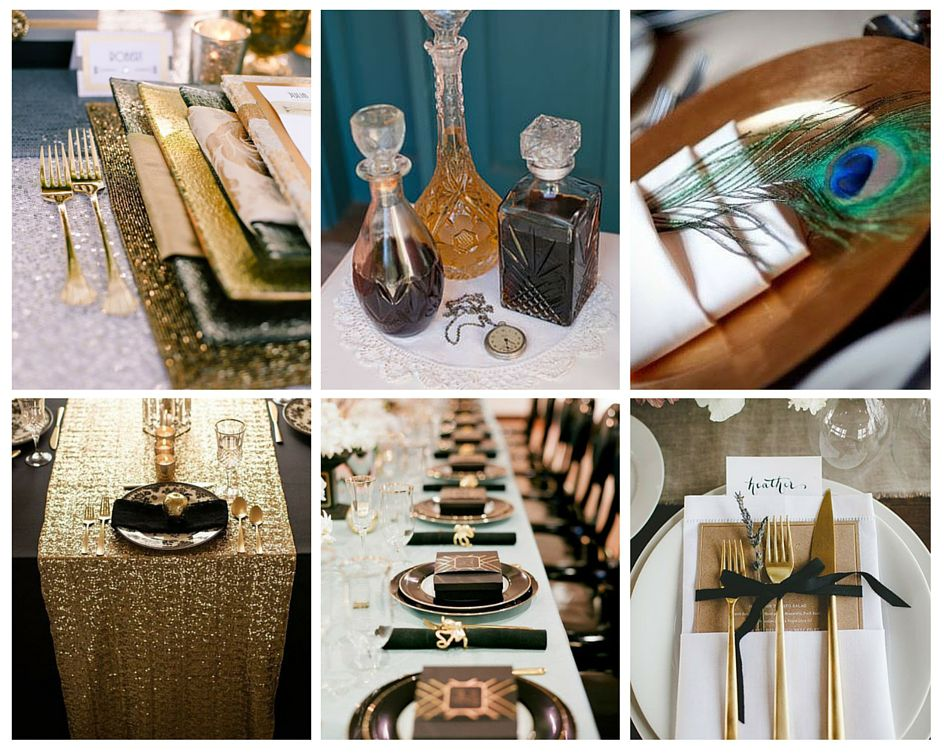 mariage annees 20 table