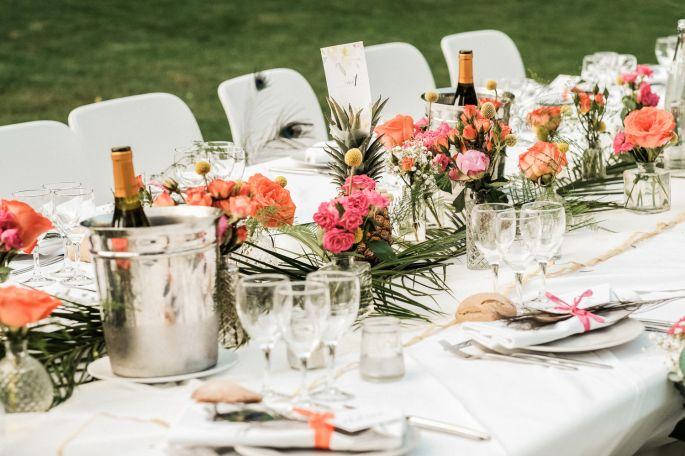 chateau sainte cecile centre de table mariage