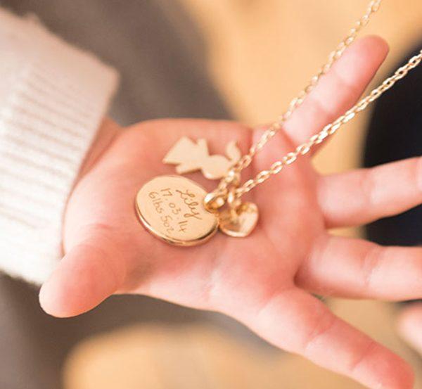 cadeau de naissance original collier