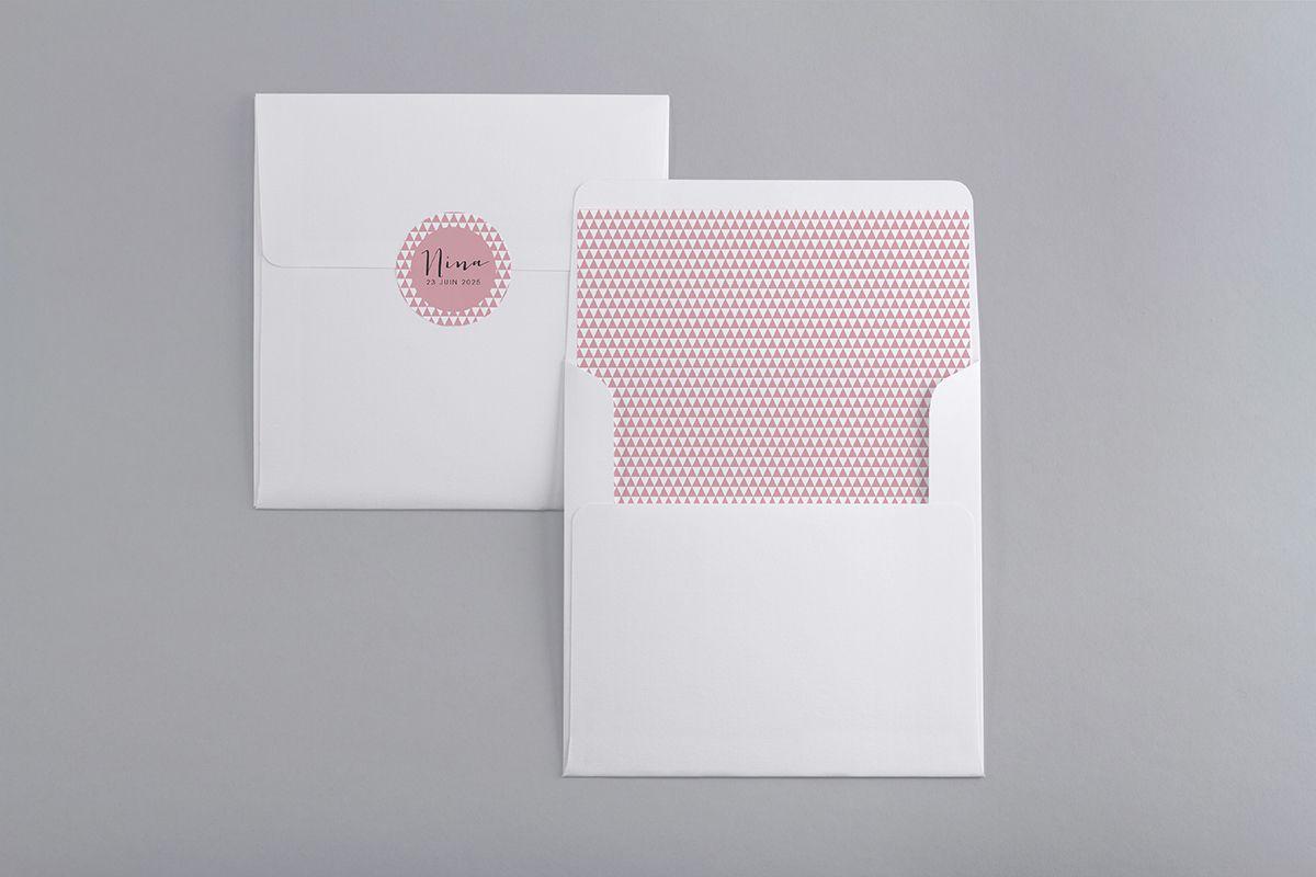 macaron autocollant+ interieur enveloppe