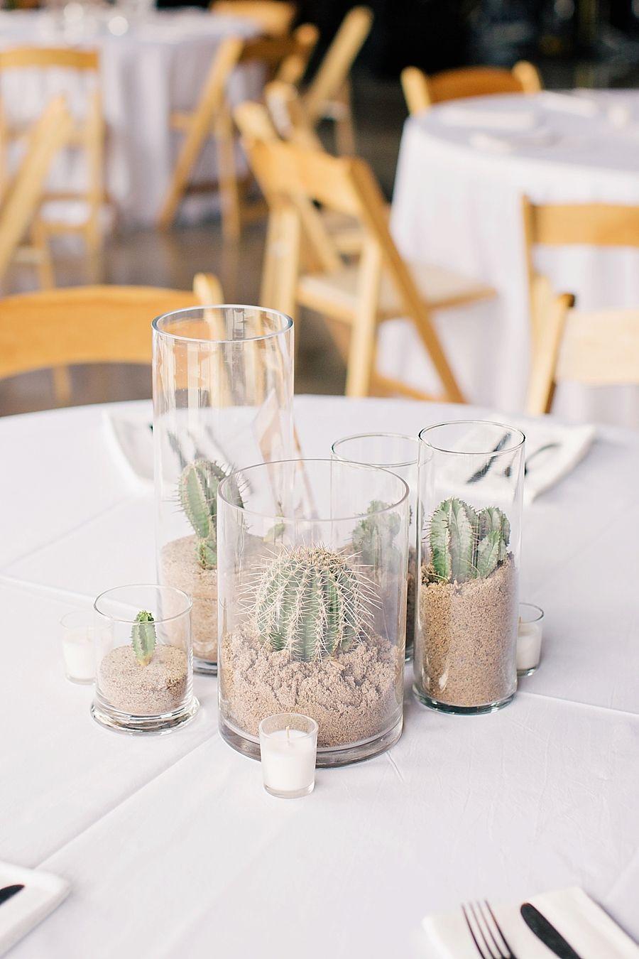 tendance mariage cactus photophore