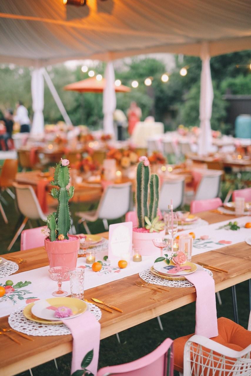 tendance mariage cactus centre table