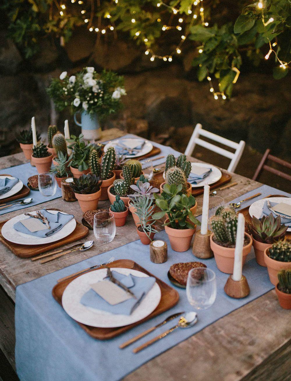 tendance mariage cactus centre de table