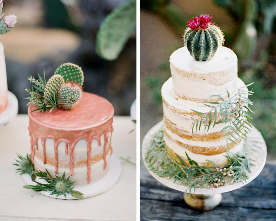 tendace mariage cactus gateaux