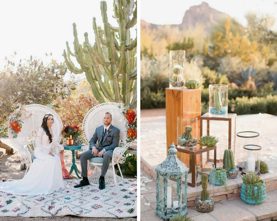 tendance mariage cactus decors