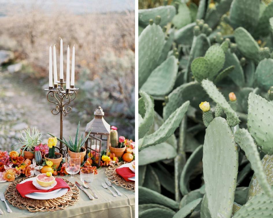 tendance mariage cactus table