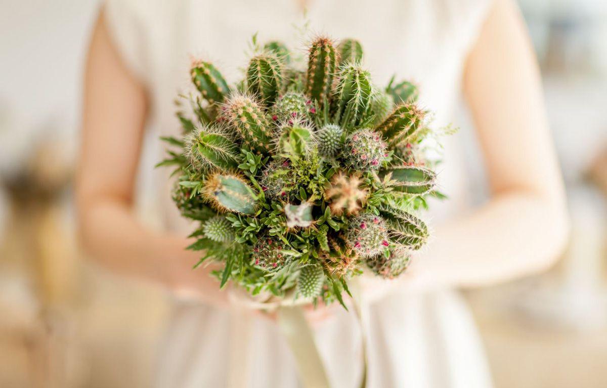 tendance mariage cactus bouquet 2