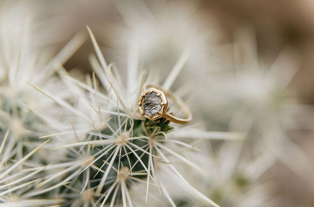tendace mariage cactus bague