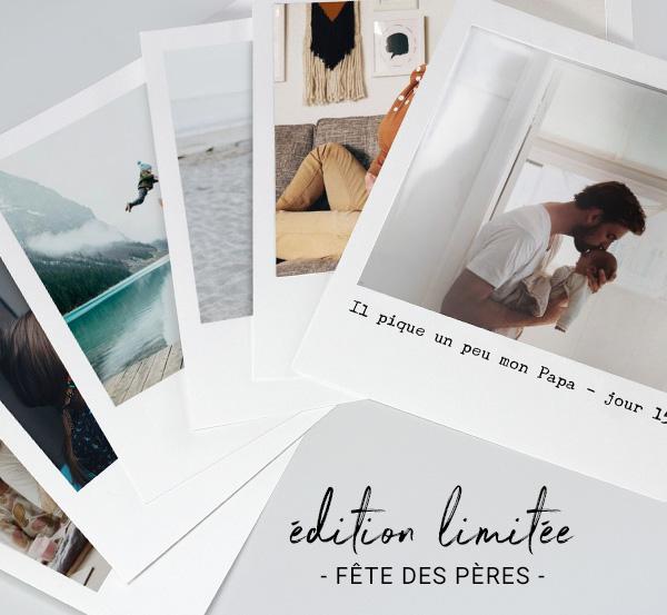 Pour la fête des pères, optez pour un cadeau original et personnalisé avec nos pochettes polaroids